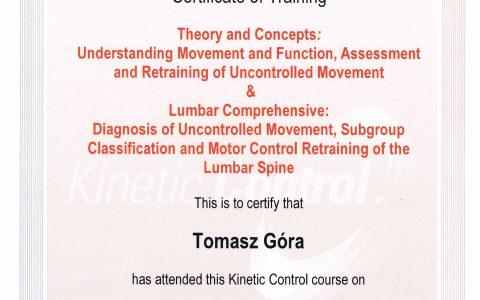 Kinetic Control – kręgosłup lędźwiowy