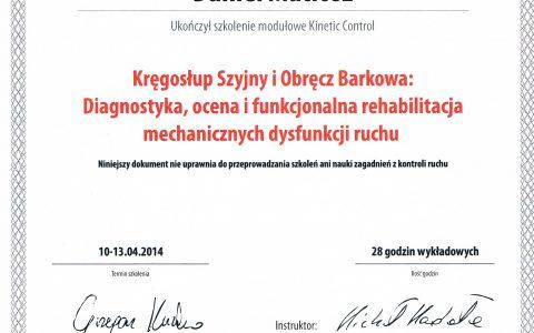 Kinetic Control III – kręgosłup szyjny i obręcz barkowa