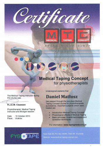 Medical Taping Concept