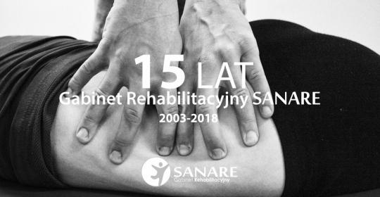 15 lat Gabinetu Rehabilitacyjnego SANARE